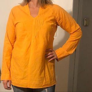 🏷SALE🟣Columbia PFG Orange Tunic Long Sleeve Top.